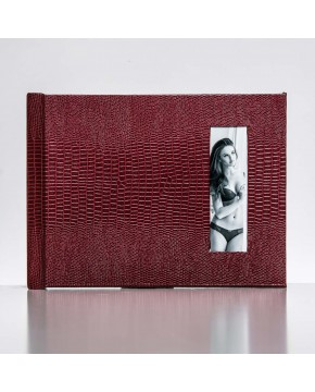 Silverbook 20x15cm with Portrait Window