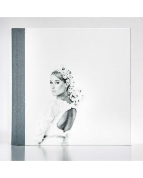 Silverbook 30x30cm with Canvas