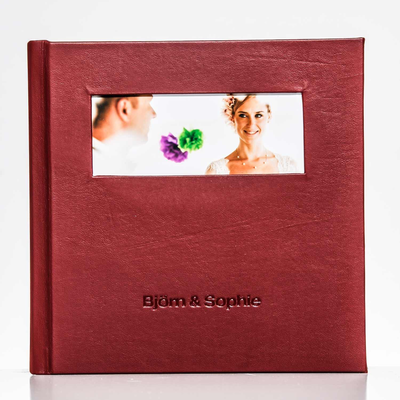 Silverbook 20x20cm mit Querformat Fenster