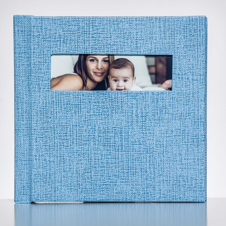 Silverbook 15x15cm mit Querformat Fenster