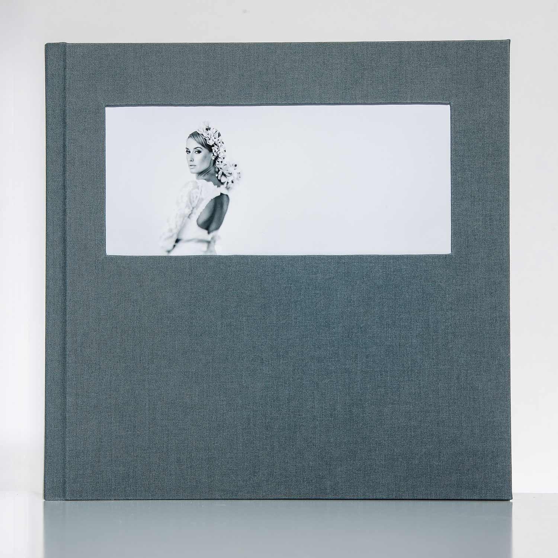 Silverbook 30x30cm mit Querformat Fenster