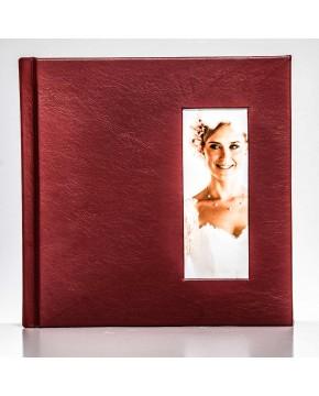 Silverbook 20x20cm mit Hochformat Fenster