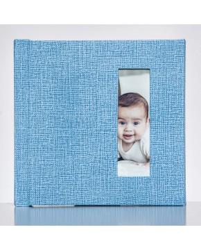 Silverbook 15x15cm mit Hochformat Fenster