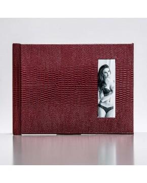 Silverbook 20x15cm mit Hochformat Fenster