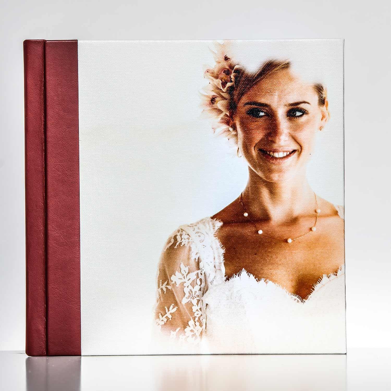 Silverbook 20x20cm met Canvas-oppervlak