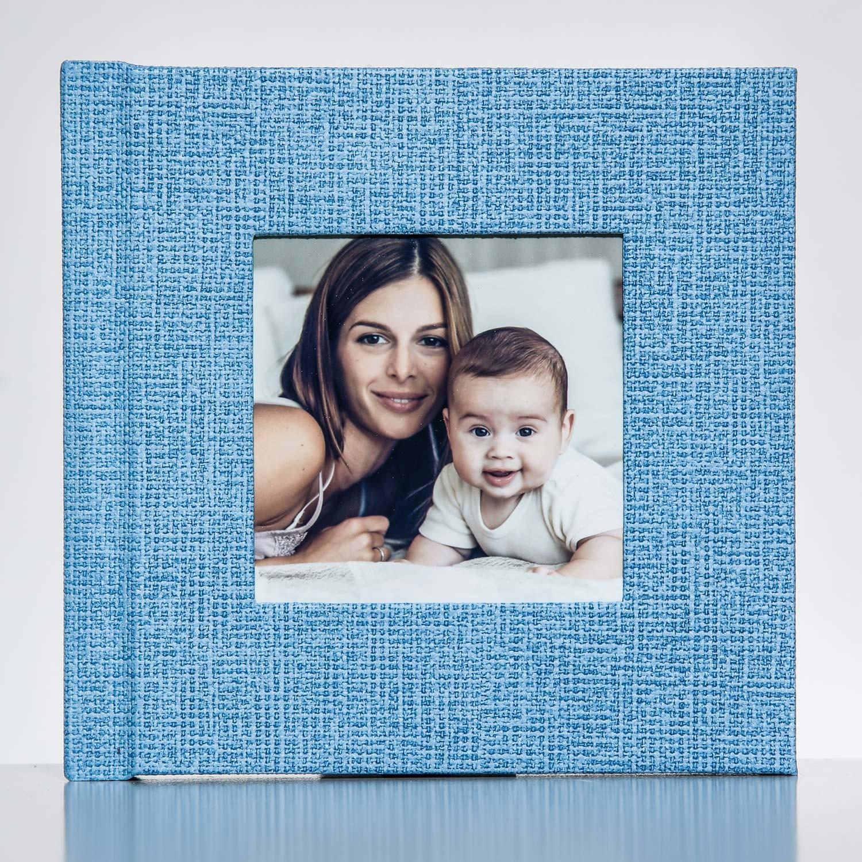 Silverbook 15x15cm met Venster