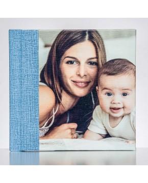 Silverbook 15x15cm met Canvas-oppervlak