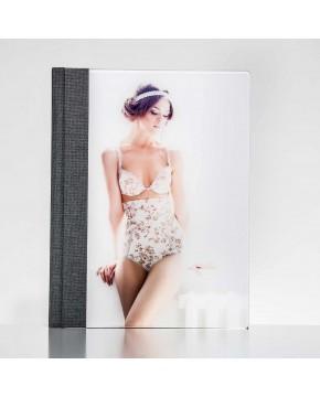 Silverbook 22,5x30cm met Volledig acrylglas oppervlak