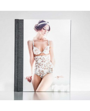 Silverbook 22,5x30cm met Canvas-oppervlak