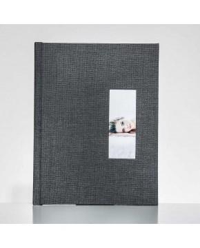 Silverbook 22,5x30cm met Venster in Staand formaat