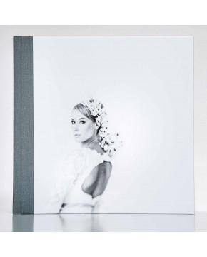 Silverbook 30x30cm met Leer-oppervlak