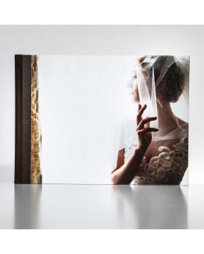 Silverbook 40x30cm met Leer-oppervlak