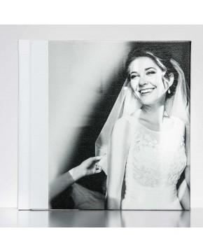 Silverino 20x20cm met Canvas-oppervlak